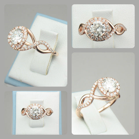 Custom Rose Gold Engagement Ring Incorporating The Infinity Symbol