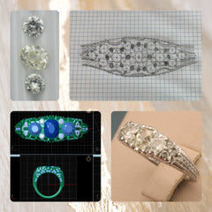 The memories of inherited diamonds combined into a new, custom ring at Chimera Design.