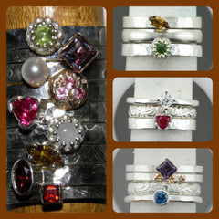 Custom Made Stackable Sterling Rings at Chimera