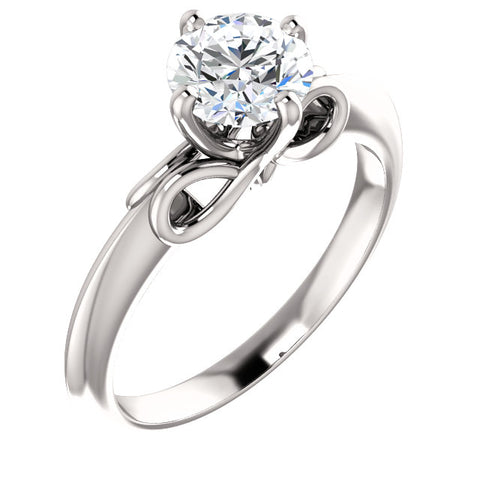 Solitaire for .50 ct, .75 ct or 1.00 ct at Chimera Design