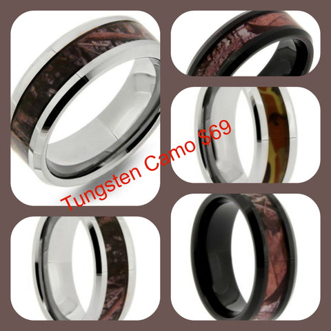Tungsten Camo Rings $69 at Chimera Design