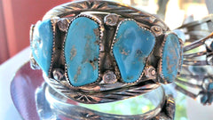Vintage turquoise bracelet at Chimera Design