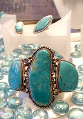 Signed Gary Reeves Turquoise bracelet at Chimera Design