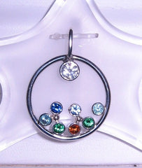 Sterling Circle of Love Birthstone Pendant