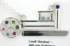 Custom Lowell Showboat Sterling Birthstone Pendant