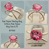 Pink Topaz Sterling Ring