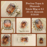 Precious Topaz & Diamond Ring: Estate - Value Priced
