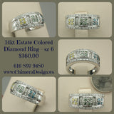 14kt White Gold Colored Diamond Ring - Priced to MOVE.