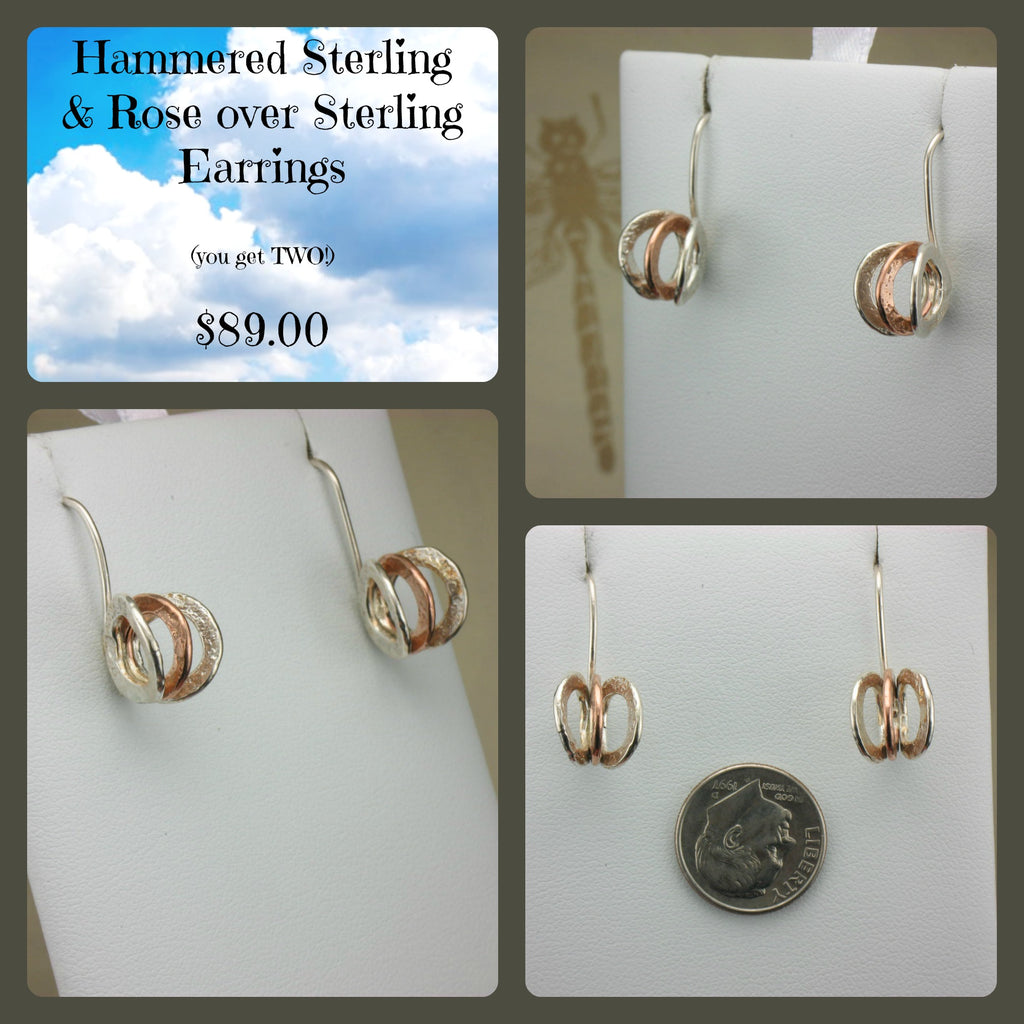 Handmade Hammered Sterling Earrings