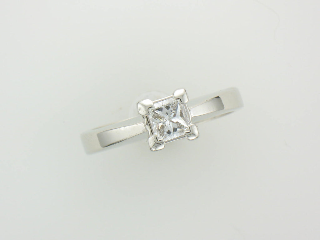 .50 ct Princess Cut SI1 H in 14kt White Gold Setting