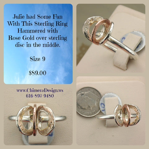 Handmade Hammered Sterling Ring