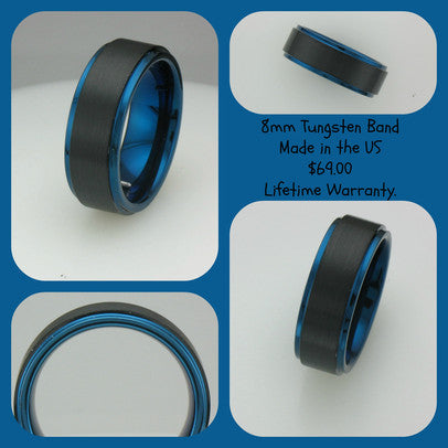 $69 Tungsten Bands - Lifetime Warranty