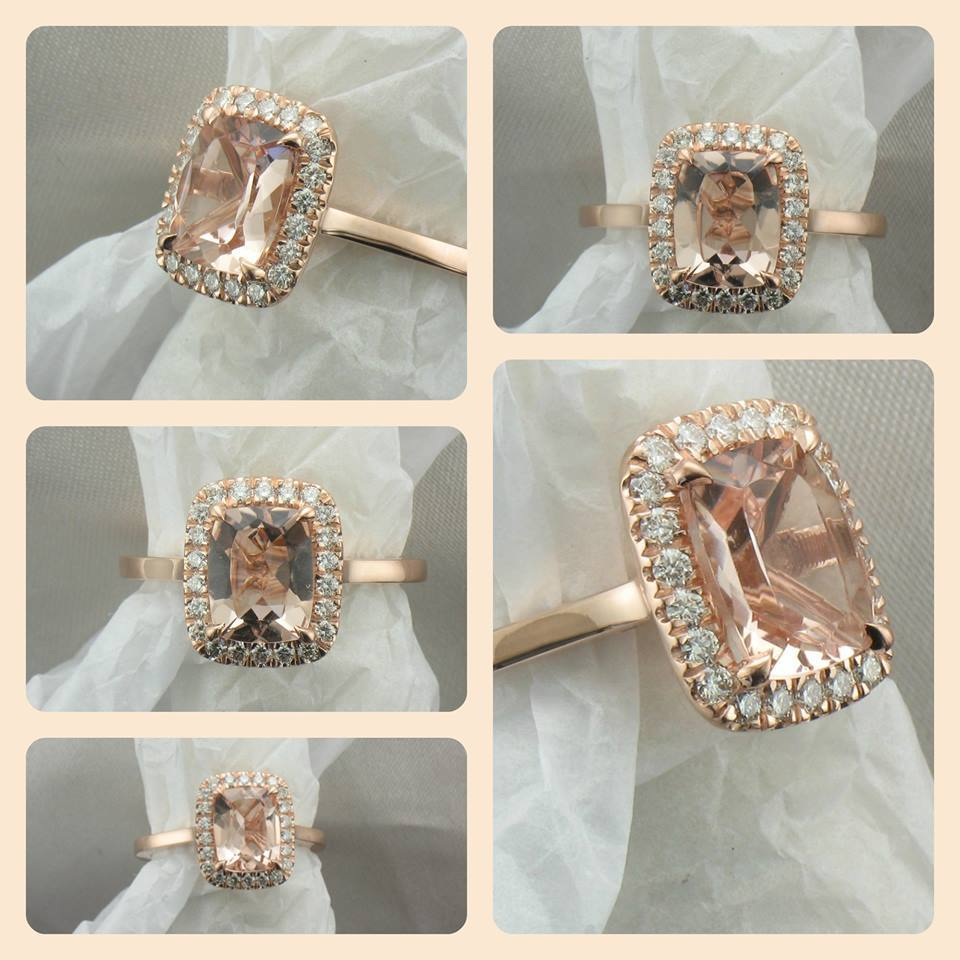 Custom Morganite Ring in Rose Gold