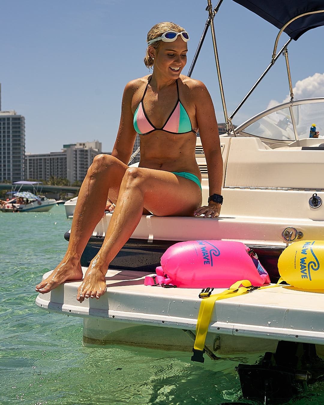 Jess Wilson on a Boat in Miami
