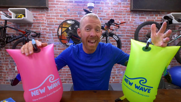 Triathlon Taren Finds his favorite Open Water Swim Buoy to be New Wave