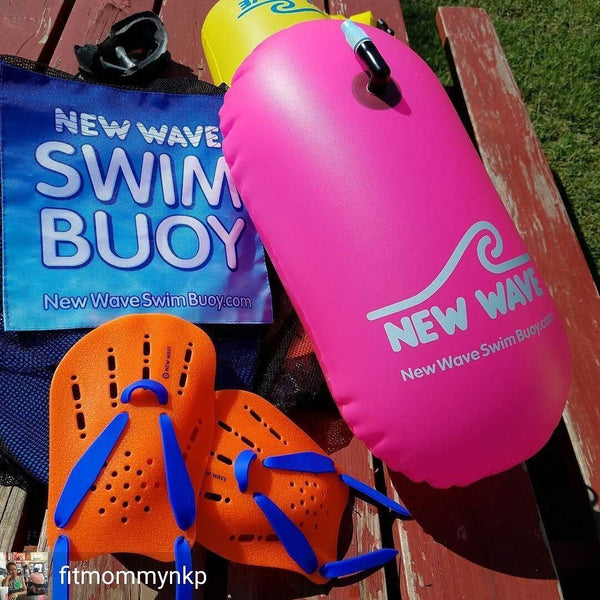 New Wave Contoured Swim Paddles - Swimming Hand Paddles