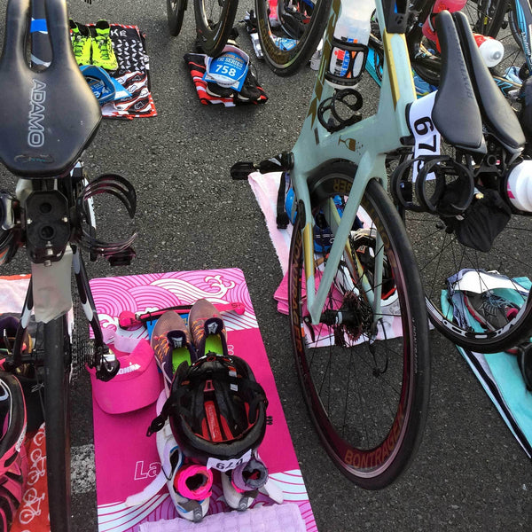 Swag - New Wave Launchpad Triathlon Transition Mat - The Fastest Way To Get Back To In Racing