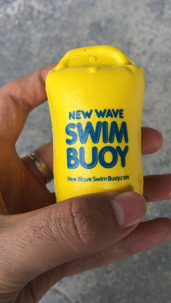 New Wave Swim Buoy Keychain / Key Bobber / Buoyant Key Float / Stress Ball