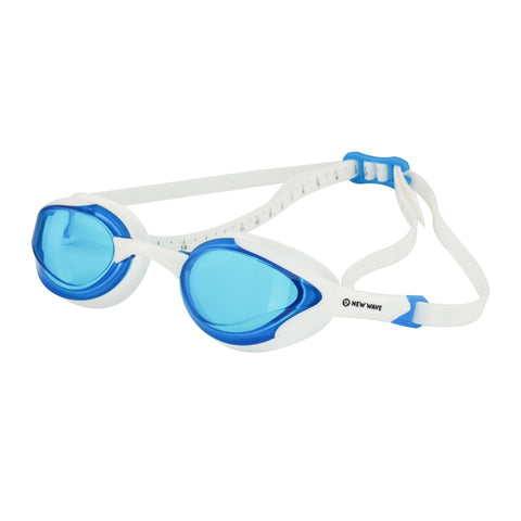 Swag - New Wave Swim Goggles - Fusion 2.0 (Blue Ice = Blue Lens In White Frame)