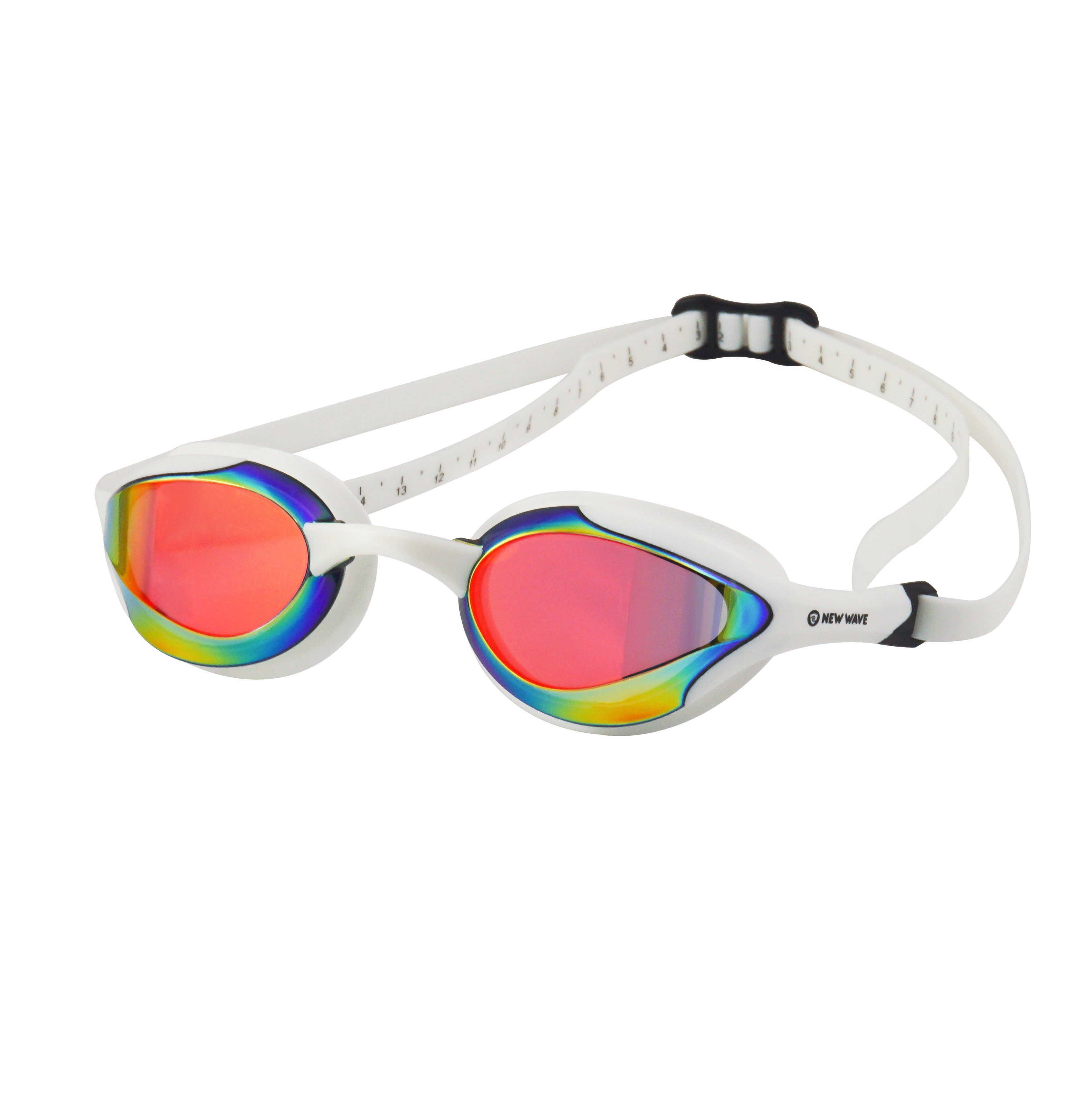 Shatter Resistant NEW White//Blue Details about  /US Divers Adult UV Fitness Wave Swim Goggles