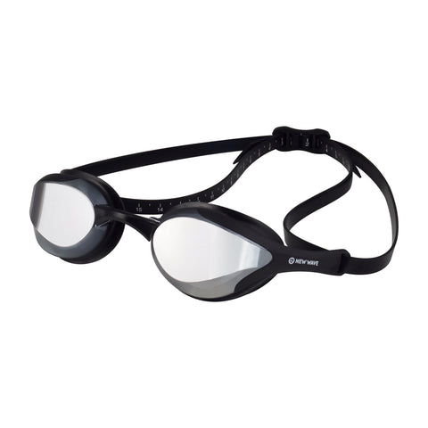 Swag - New Wave Swim Goggles - Fusion 2.0 (Silver Rush = Mirror Lens In Black Frames)