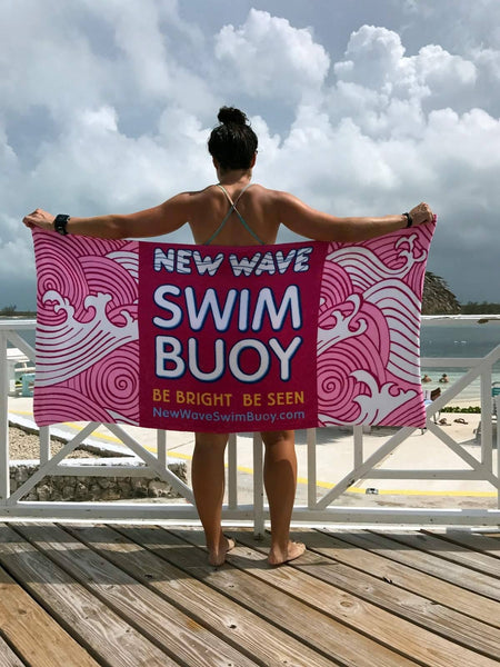 "Swag - Towel Pink - New Wave Microfiber Velour Beach Blanket - 30"" X 60"" Inches"