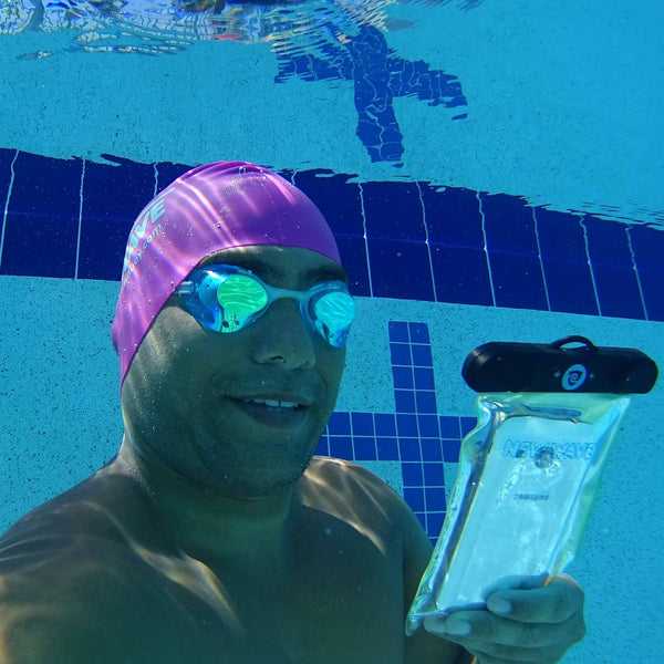 New Wave Waterproof Phone Case - Universal Dry Pouch best open water swim buoy