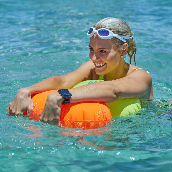 New Wave Swim Buoy - Large (20 liter) - PVC Neon Green (Fluorescent Green) by New Wave Swim Buoy for Open Water Swimmers, Triathletes & SwimRun Otillo ÖTILLÖ channel swimmers