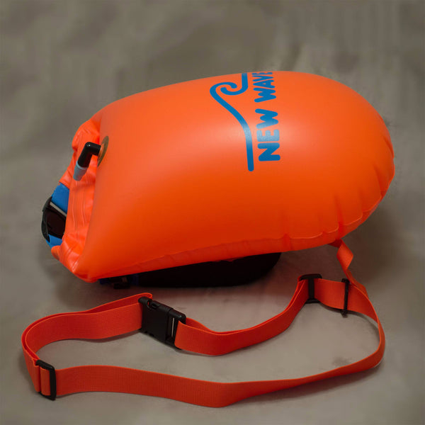 Swim Buoy - New Wave Open Water Swim Buoy - Large (20 Liter) - PVC Orange