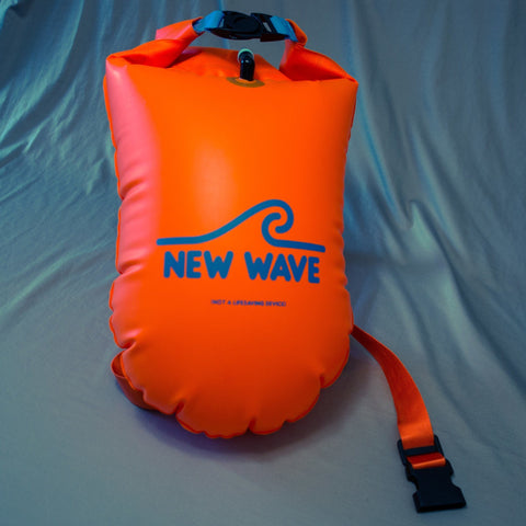 Swim Buoy - New Wave Open Water Swim Buoy - Large (20 Liter) - TPU Orange