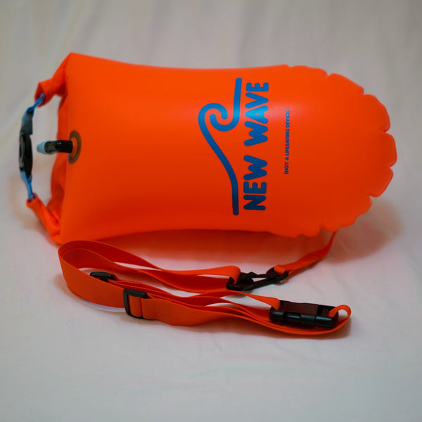 Swim Buoy - New Wave Open Water Swim Buoy - Medium (15 Liter) - PVC Orange