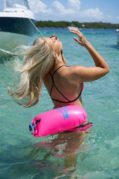 Swim Buoy - New Wave Open Water Swim Buoy - Medium (15 Liter) - PVC Pink