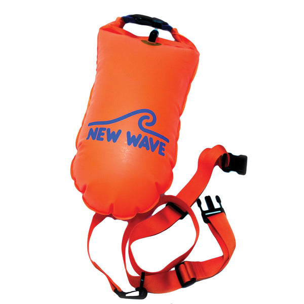 Swim Buoy - New Wave Open Water Swim Buoy - Medium (15 Liter) - TPU Orange