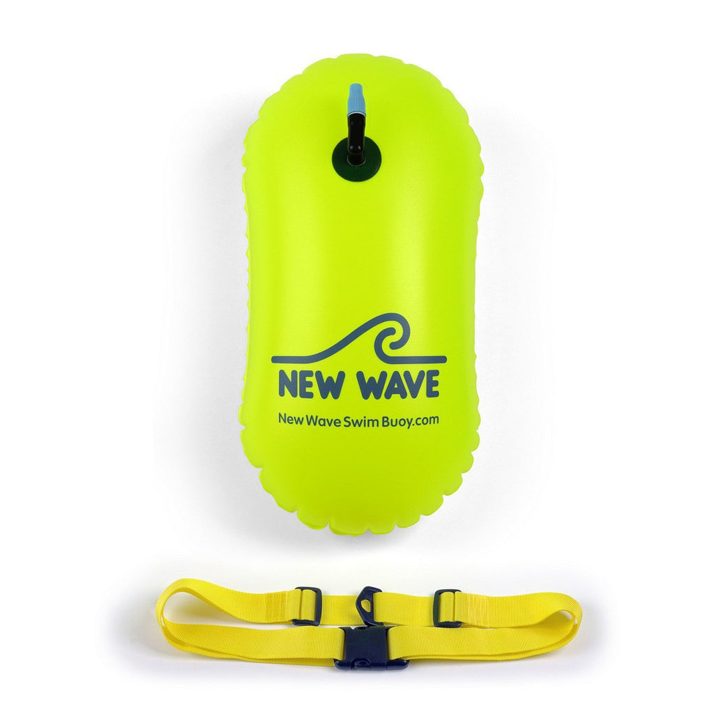 new wave swim bubble for open water swimmers and triathletes green by new wave swim