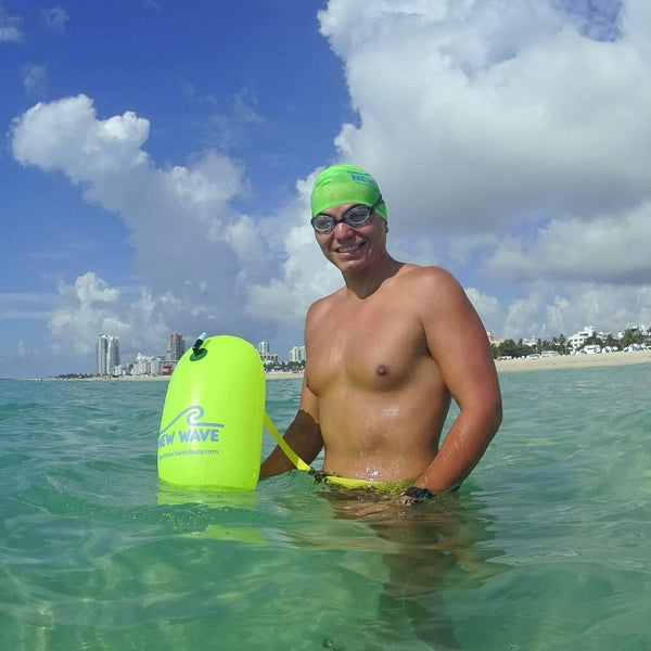 Swim Buoy - New Wave Swim BUBBLE For Open Water Swimmers And Triathletes - Green