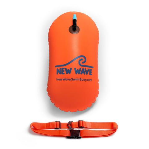 Swim Buoy - New Wave Swim Bubble For Open Water Swimmers And Triathletes - Orange