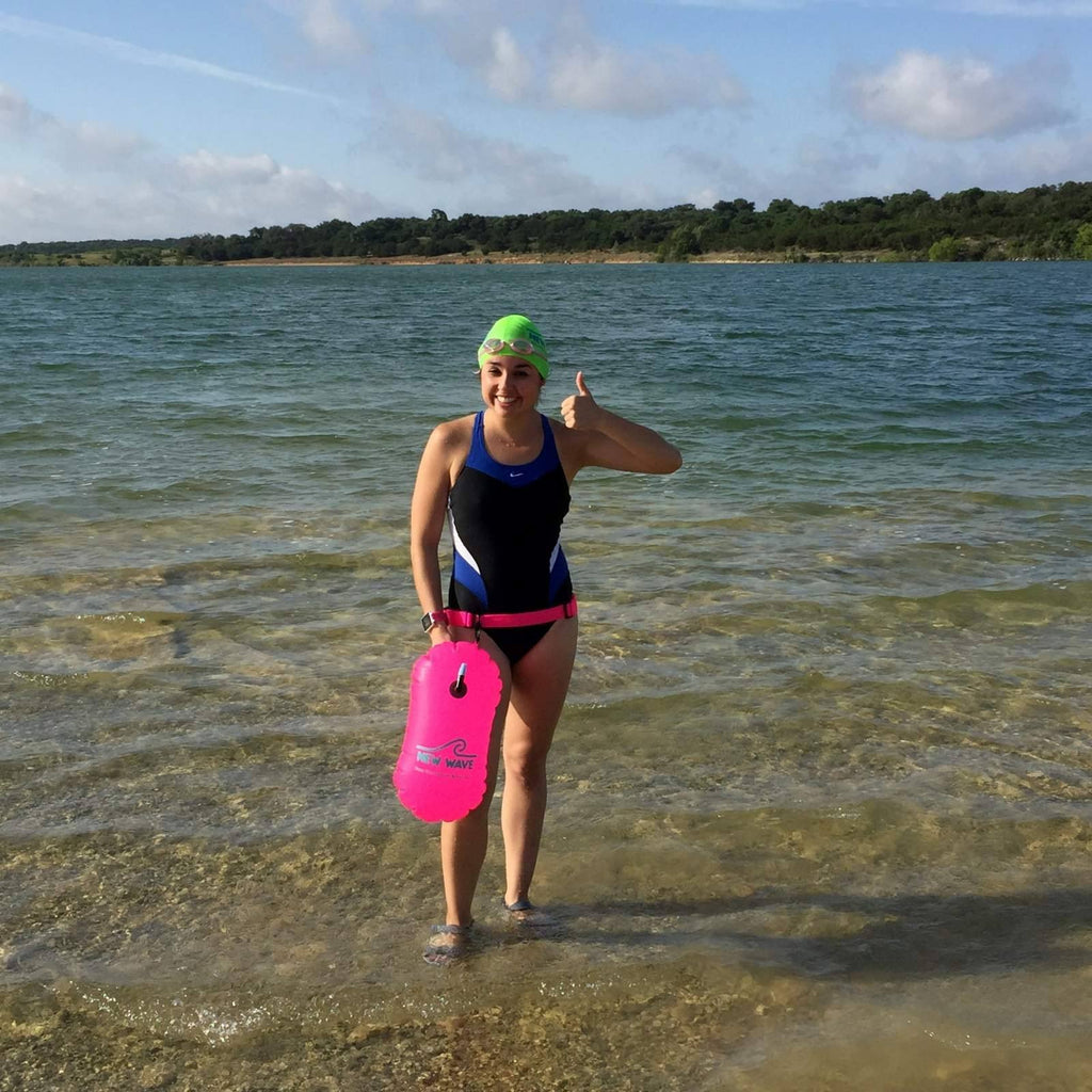 New Wave Swim Bubble For Open Water Pink Pvc New Wave