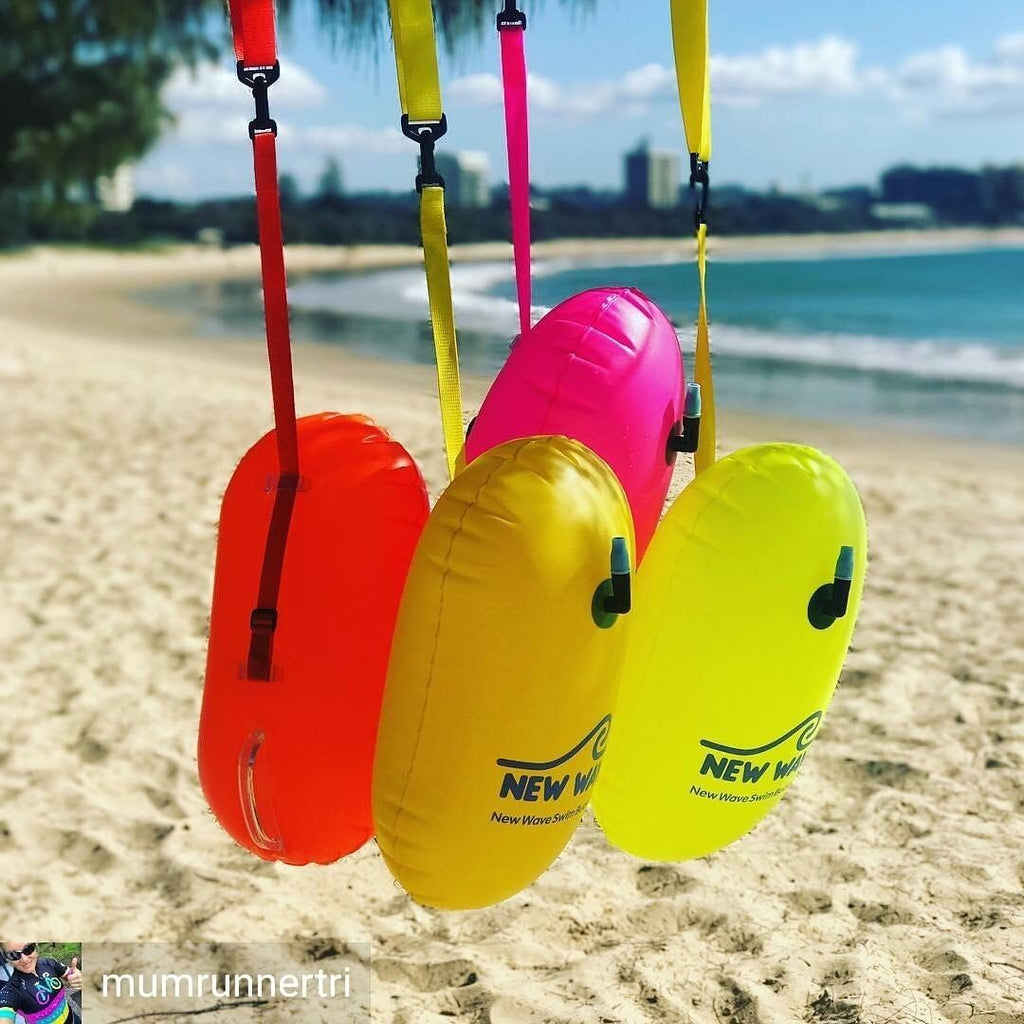 New Wave Swim Buoy Be Bright Be Seen With Open Water