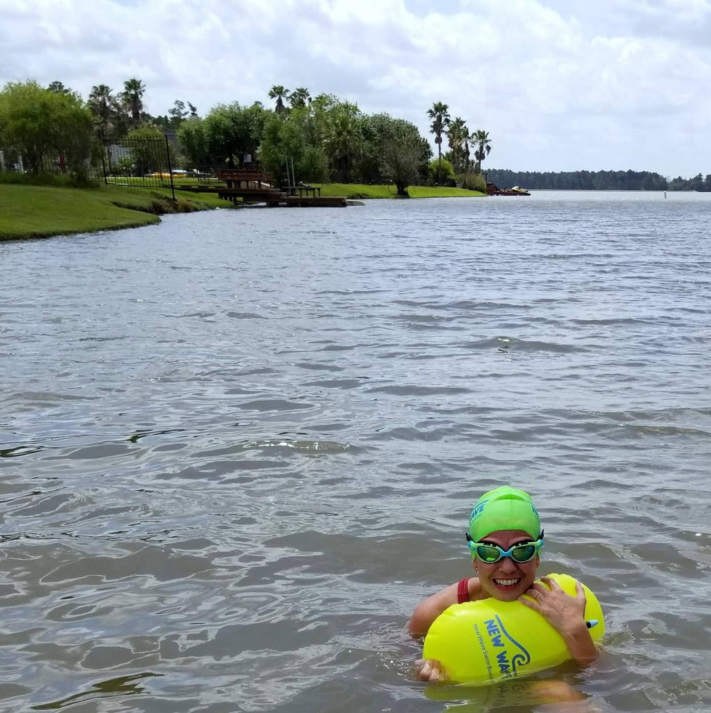 5fb96b54d08 ... Swim Buoy - New Wave Swim Bubble For Open Water Swimmers And  Triathletes - Yellow ...