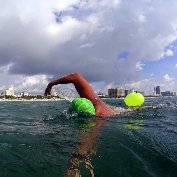 Swim Buoy - New Wave Swim Bubble For Open Water Swimmers And Triathletes - Yellow