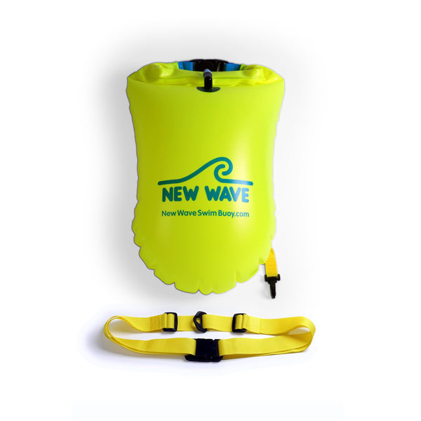 Swim Buoy - New Wave Swim Buoy - Large (20 Liter) - PVC Neon Green Fluo
