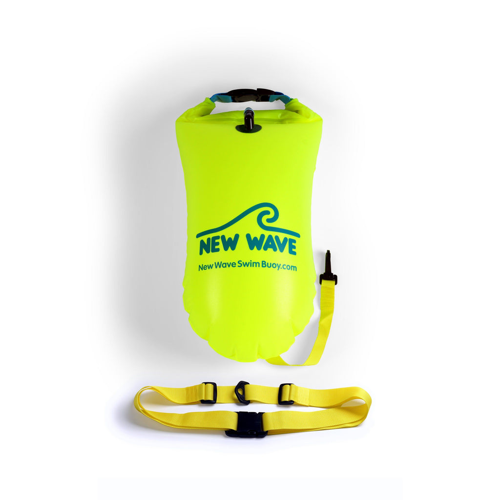 Swim Buoy - New Wave Swim Buoy - Med (15 Liter) PVC Fluo Green