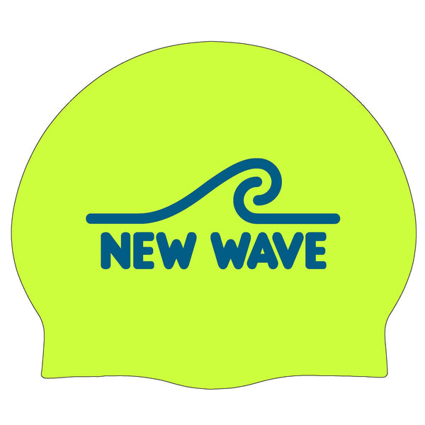 Swim Cap - Swim Cap Fluorescent Green - New Wave Silicone Swim Cap