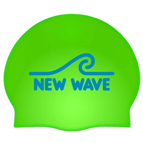 Swim Cap Kelly Green - New Wave Silicone Swim Cap best open water swim buoy