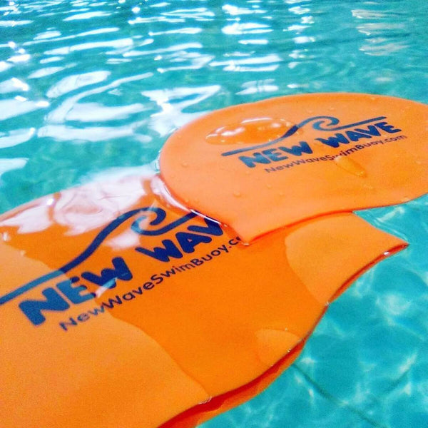 Swim Cap - Swim Cap Orange - New Wave Silicone Swim Cap