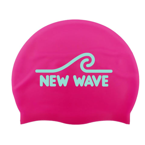 Swim Cap Pink - New Wave Silicone Swim Cap by New Wave Swim Buoy for Open Water Swimmers, Triathletes & SwimRun Otillo ÖTILLÖ channel swimmers