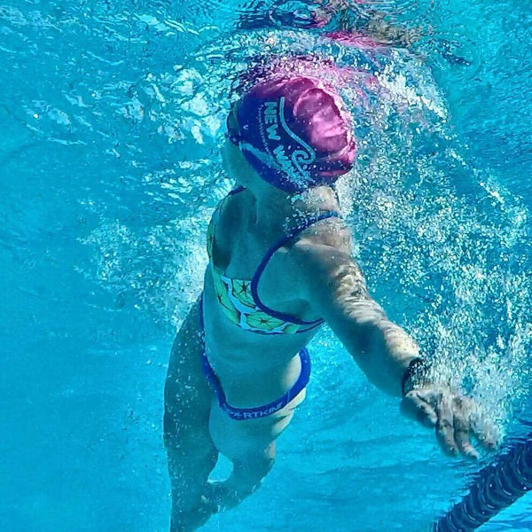 Swim Cap Pink - New Wave Silicone Swim Cap best open water swim buoy