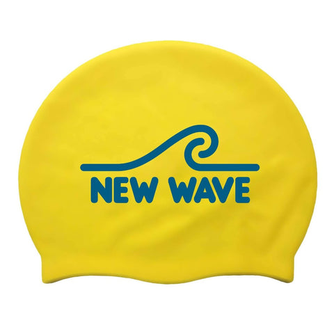 Swim Cap Yellow - New Wave Silicone Swim Cap by New Wave Swim Buoy for Open Water Swimmers, Triathletes & SwimRun Otillo ÖTILLÖ channel swimmers