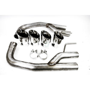 "PLM 2.5"" Quad Axle Back Muffler with TIP for Mustang 18-20 GT Non Active Exhaust - Shift Up Racing"