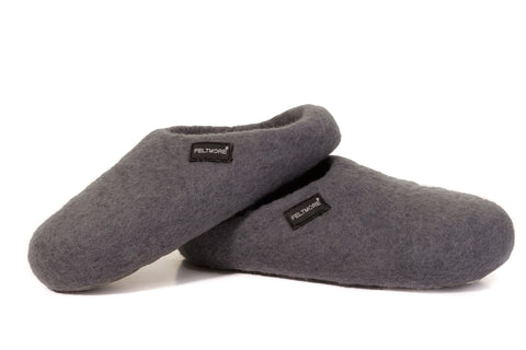 Classy Gray FELTMORE slippers